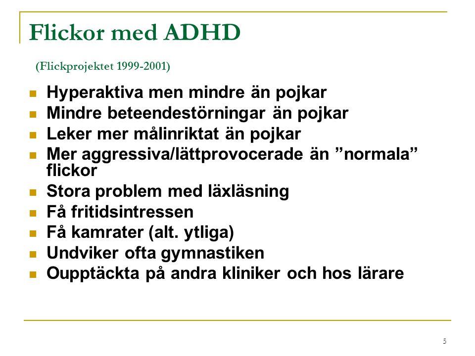 Flickor med ADHD (Flickprojektet 1999-2001)
