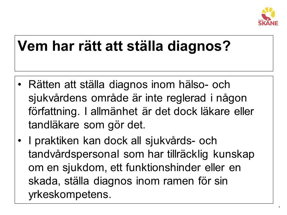 Vem har rätt att ställa diagnos