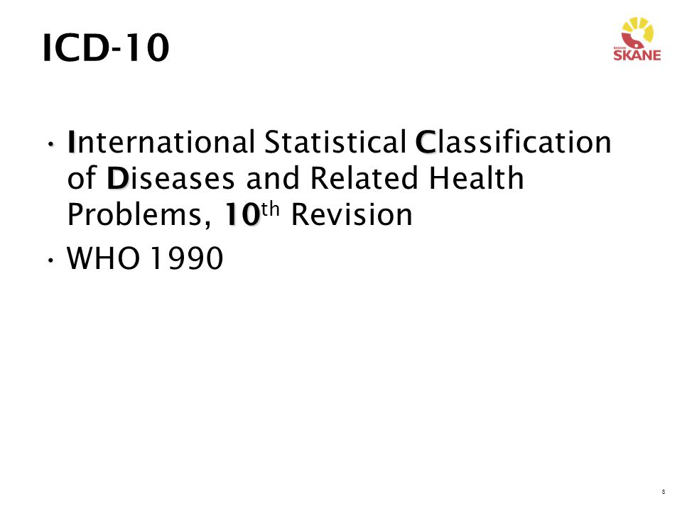 ICD-10 International Statistical Classification of Diseases and Related Health Problems, 10th Revision.