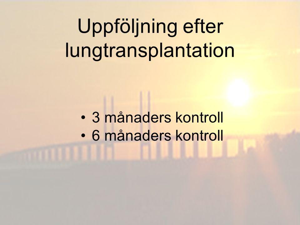 Uppföljning efter lungtransplantation