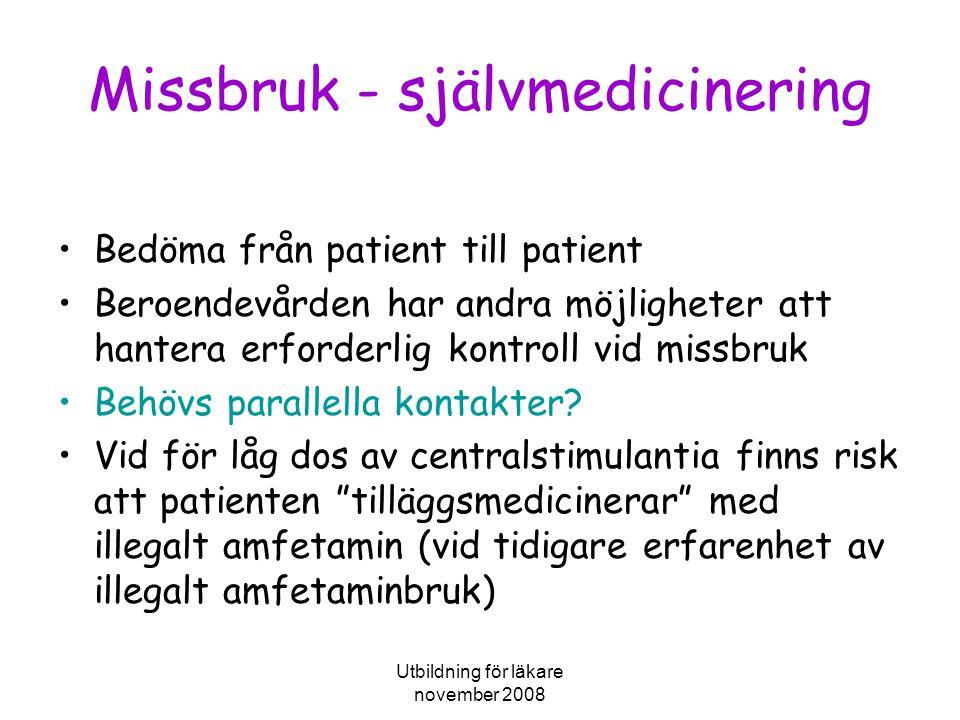 Missbruk - självmedicinering