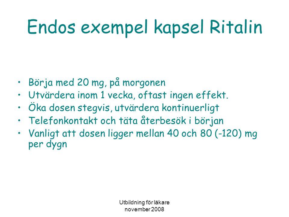 Endos exempel kapsel Ritalin