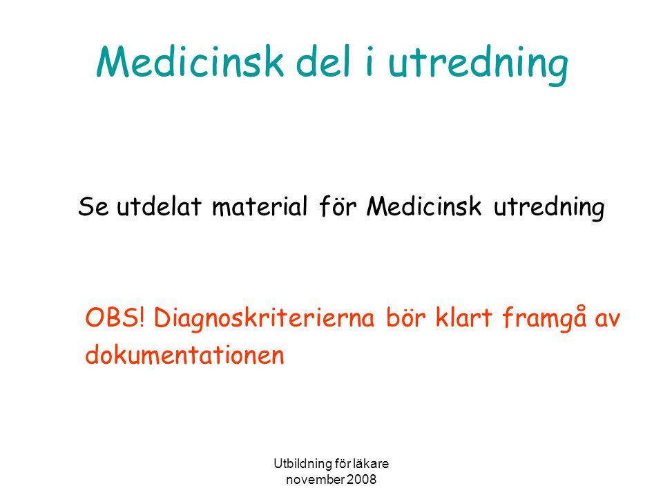 Medicinsk del i utredning