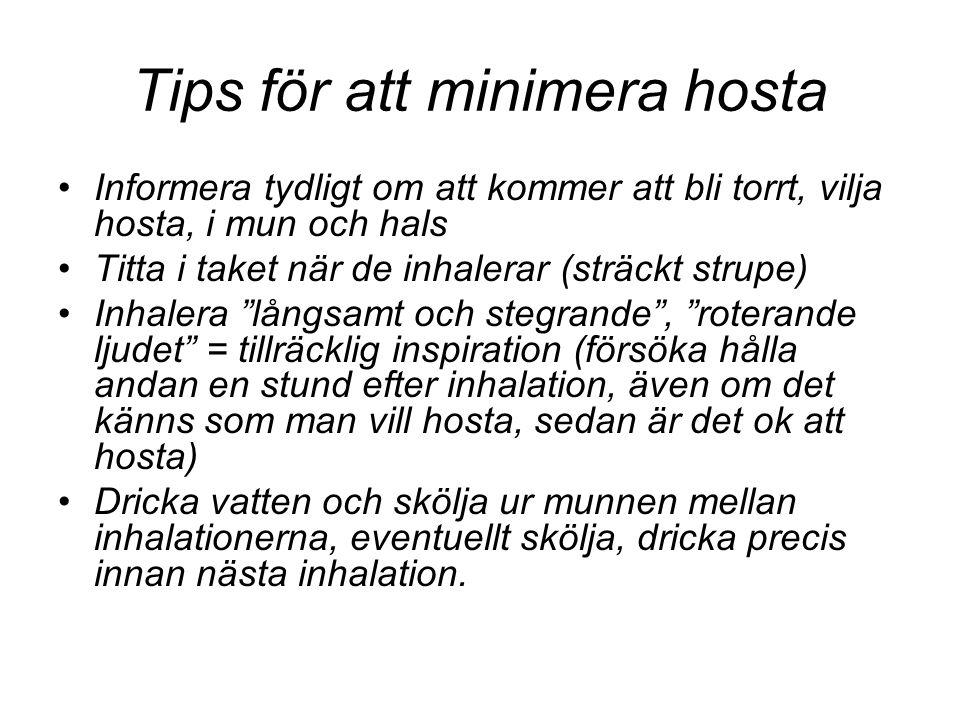Tips för att minimera hosta