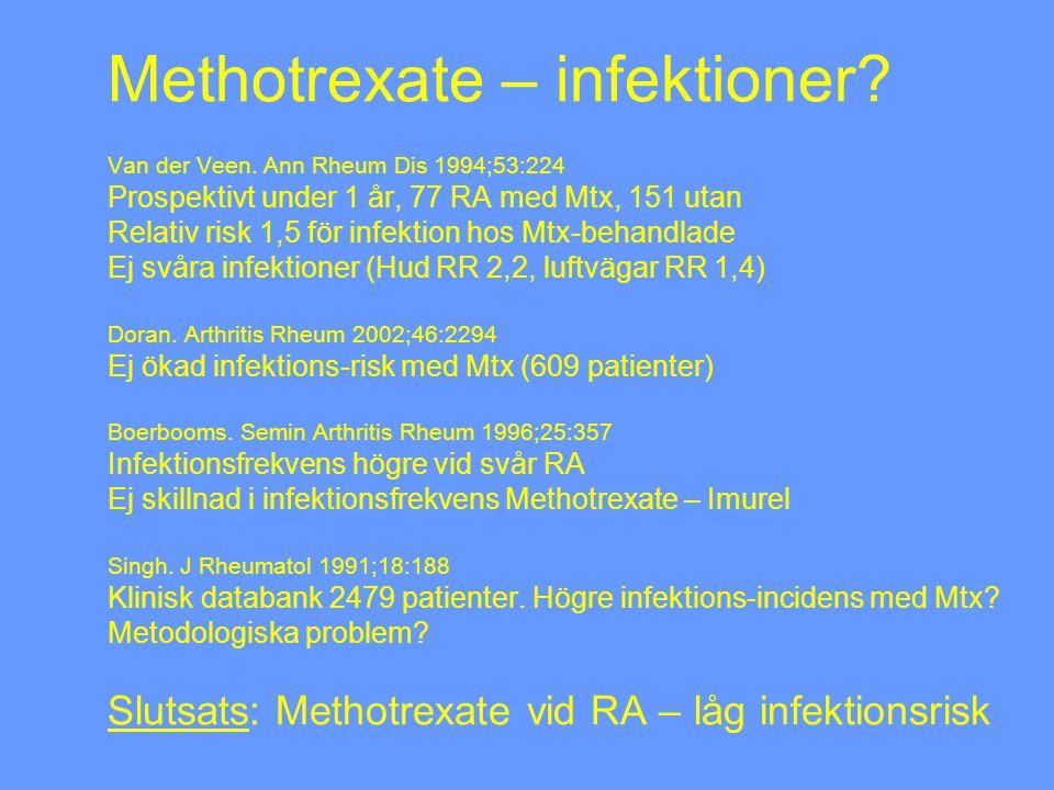 Methotrexate – infektioner. Van der Veen