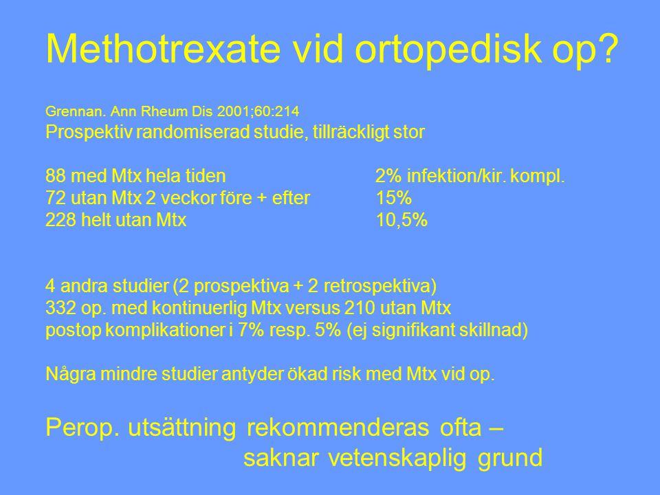 Methotrexate vid ortopedisk op. Grennan