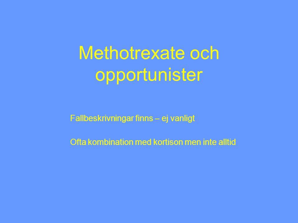 Methotrexate och opportunister