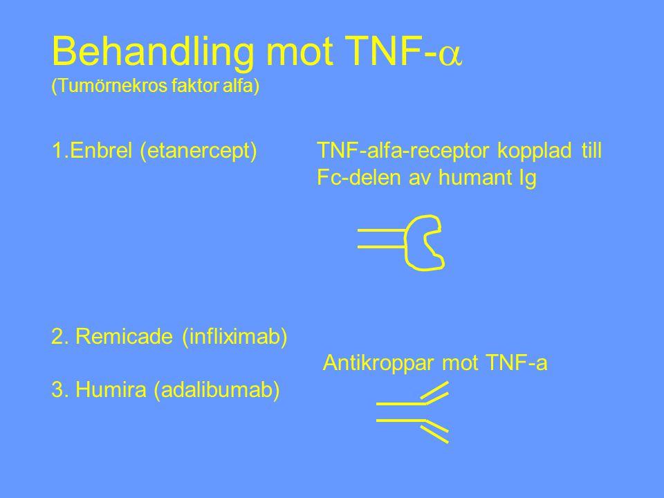 Behandling mot TNF-a (Tumörnekros faktor alfa) 1. Enbrel (etanercept)