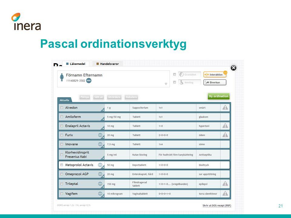 Pascal ordinationsverktyg