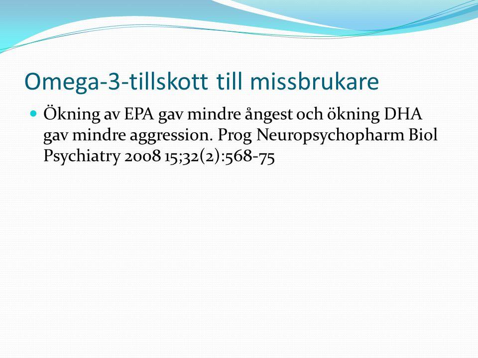 Omega-3-tillskott till missbrukare