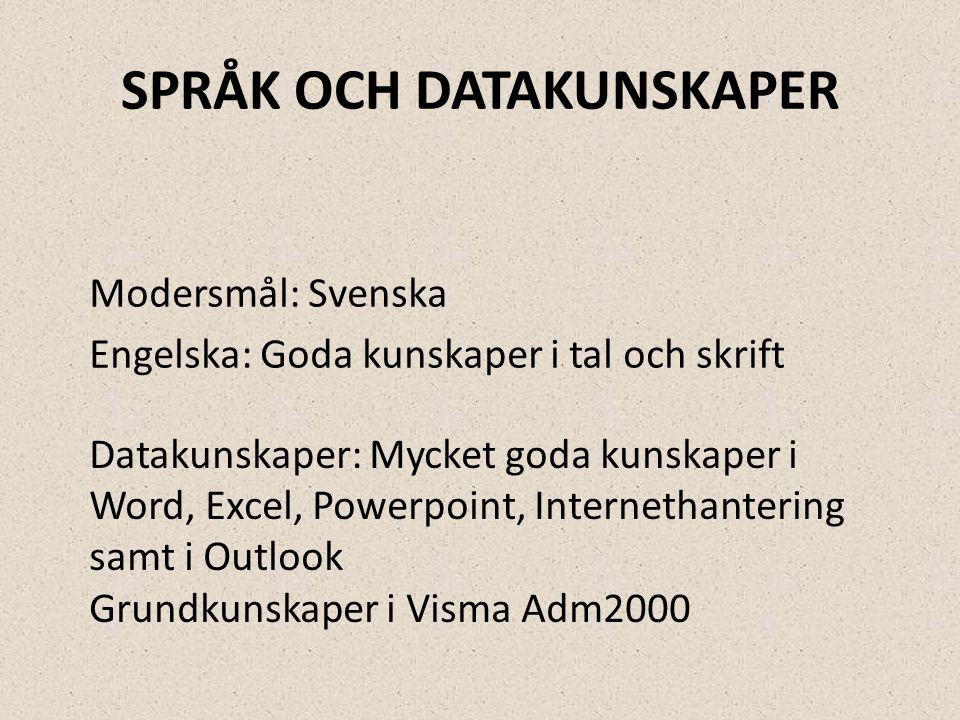 Språk och datakunskaper