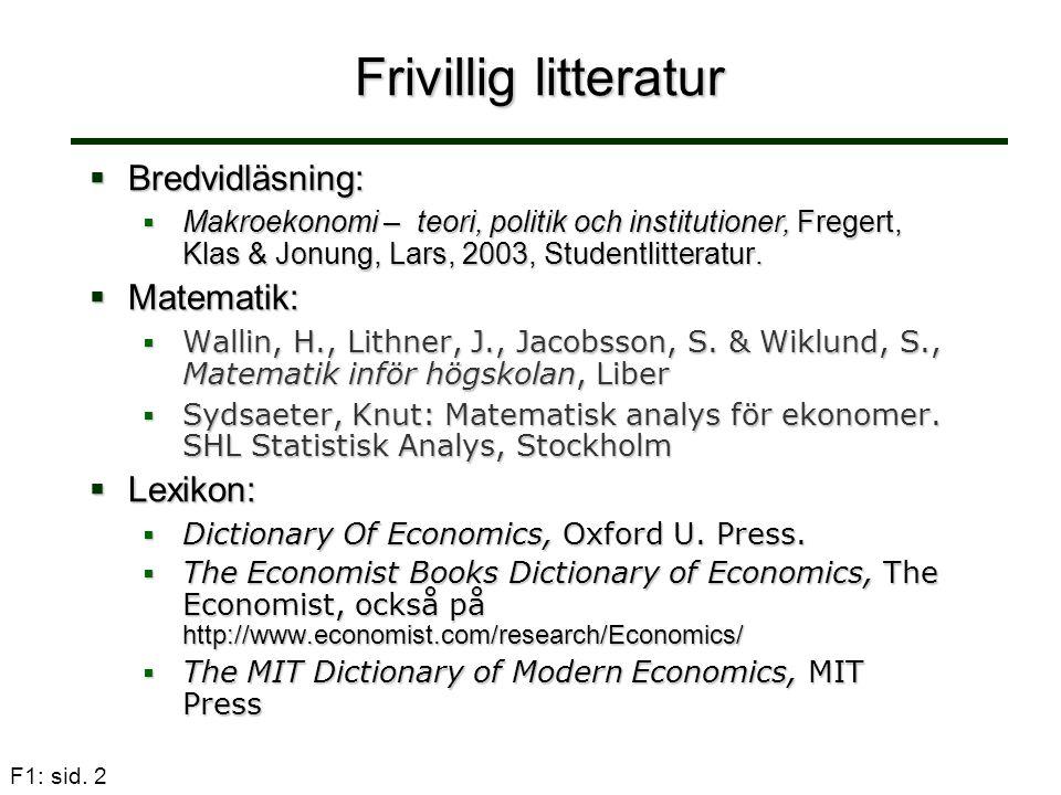Frivillig litteratur Bredvidläsning: Matematik: Lexikon: