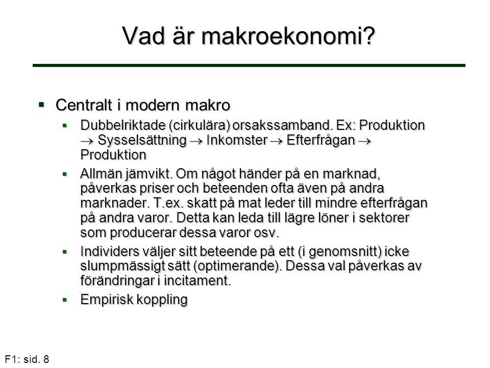 Vad är makroekonomi Centralt i modern makro