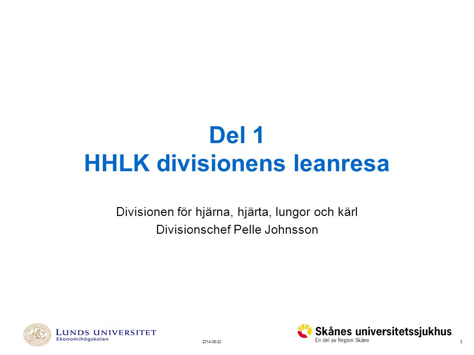 Del 1 HHLK divisionens leanresa