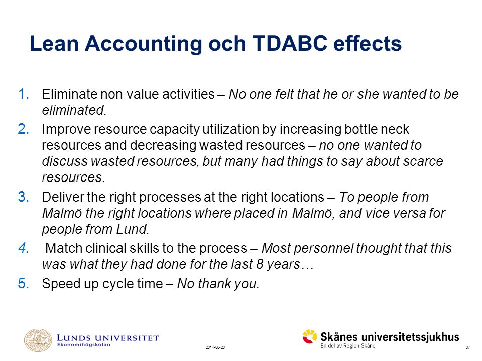 Lean Accounting och TDABC effects