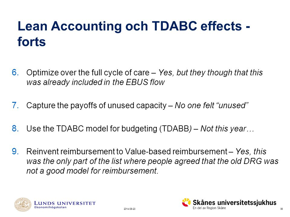 Lean Accounting och TDABC effects - forts