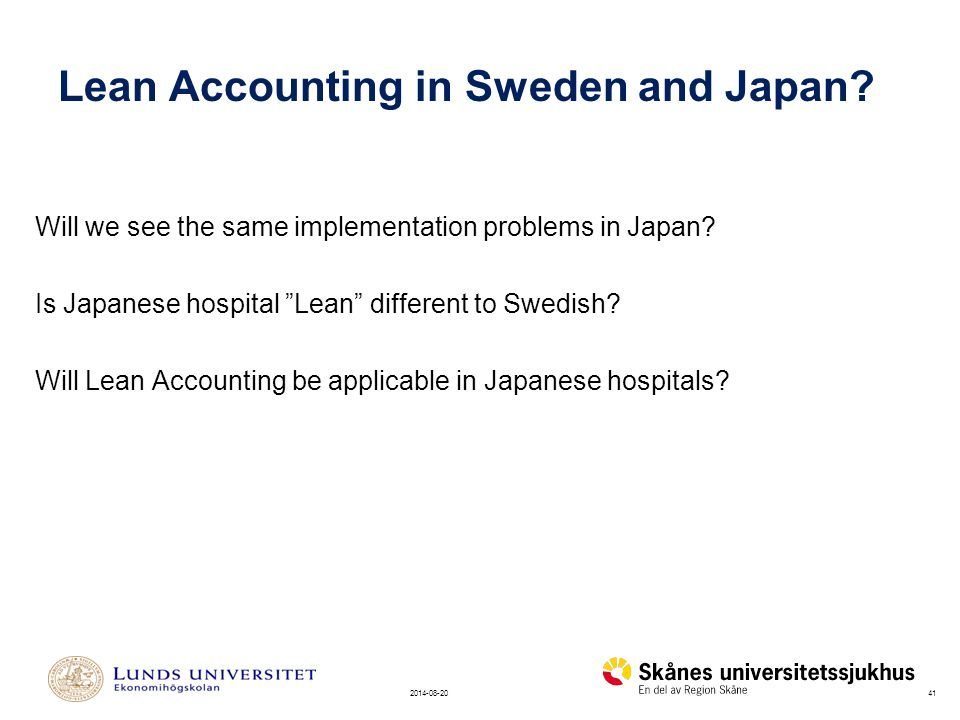 Lean Accounting in Sweden and Japan