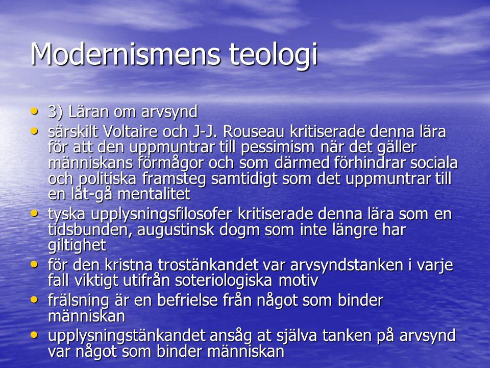 Modernismens teologi 3) Läran om arvsynd