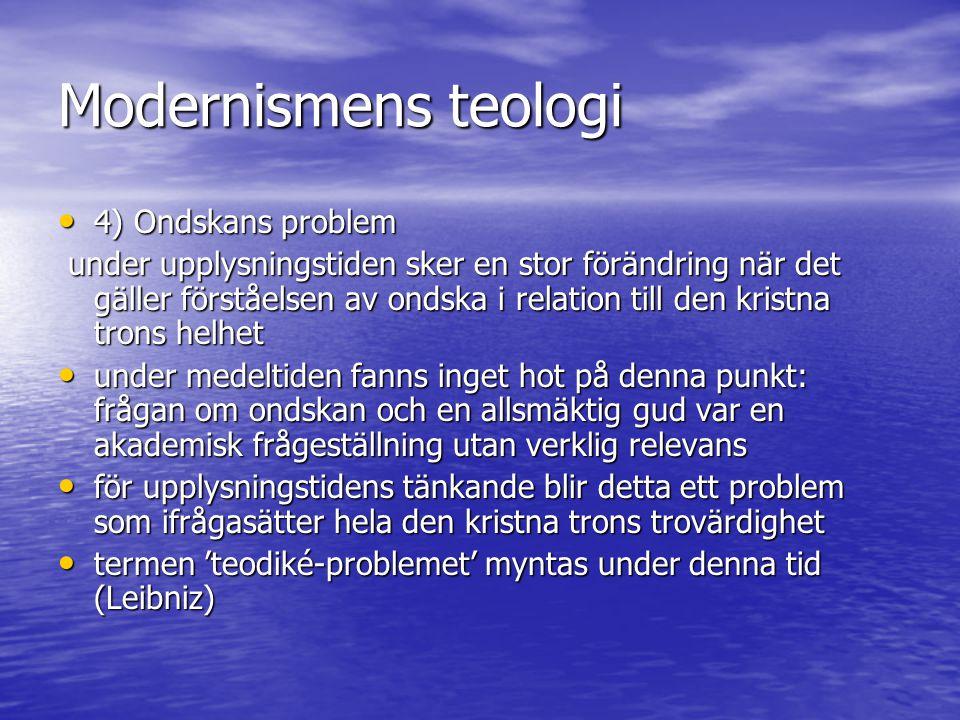 Modernismens teologi 4) Ondskans problem