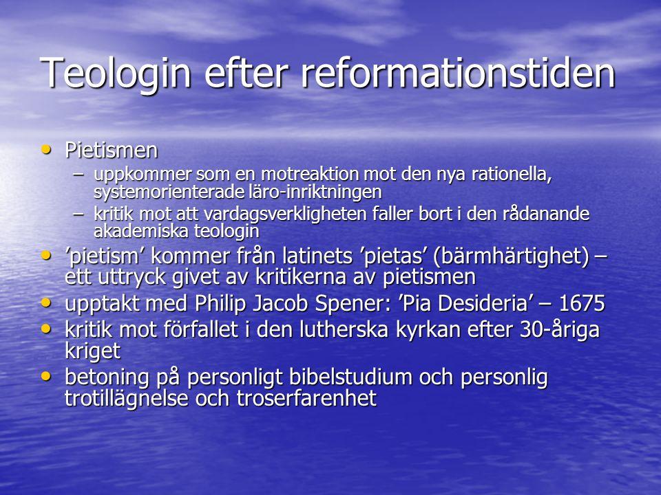 Teologin efter reformationstiden