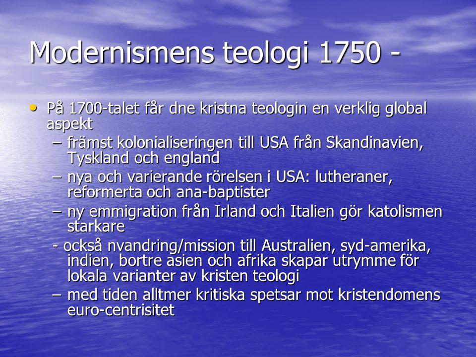 Modernismens teologi 1750 -