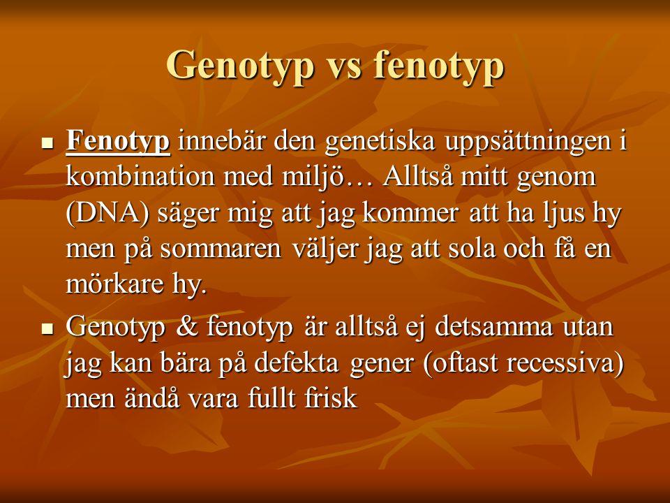 Genotyp vs fenotyp