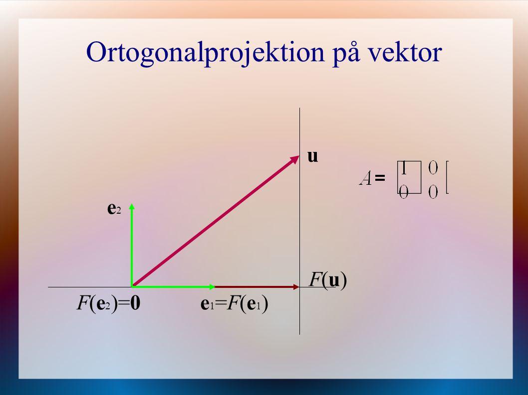 Ortogonalprojektion på vektor