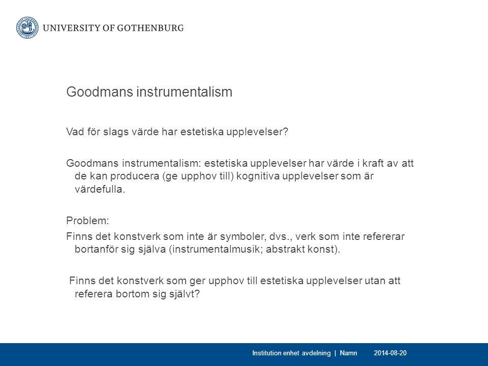 Goodmans instrumentalism