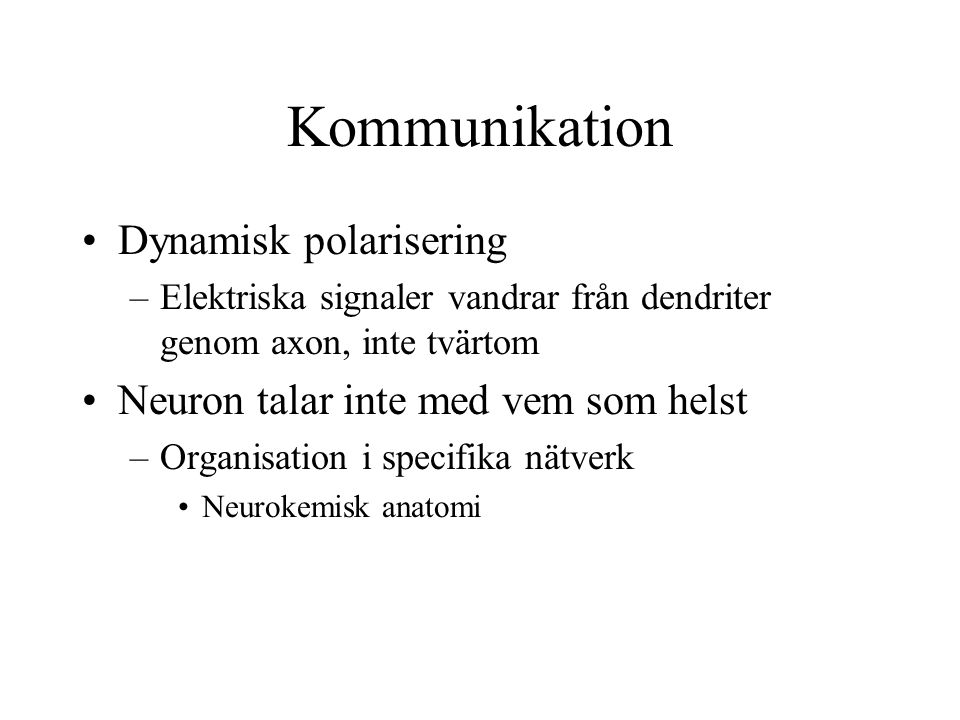 Kommunikation Dynamisk polarisering