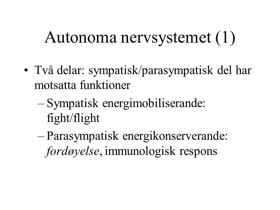 Autonoma nervsystemet (1)