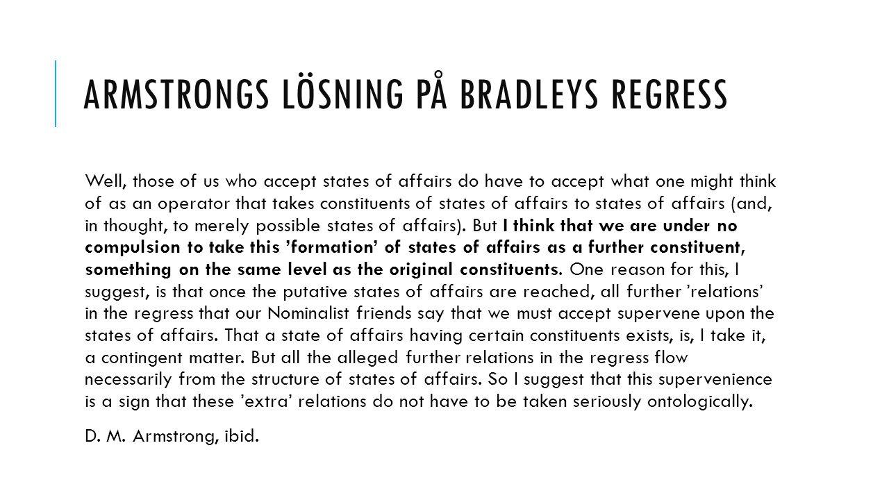 Armstrongs lösning på bradleys regress