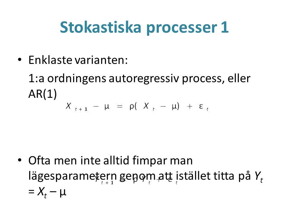 Stokastiska processer 1