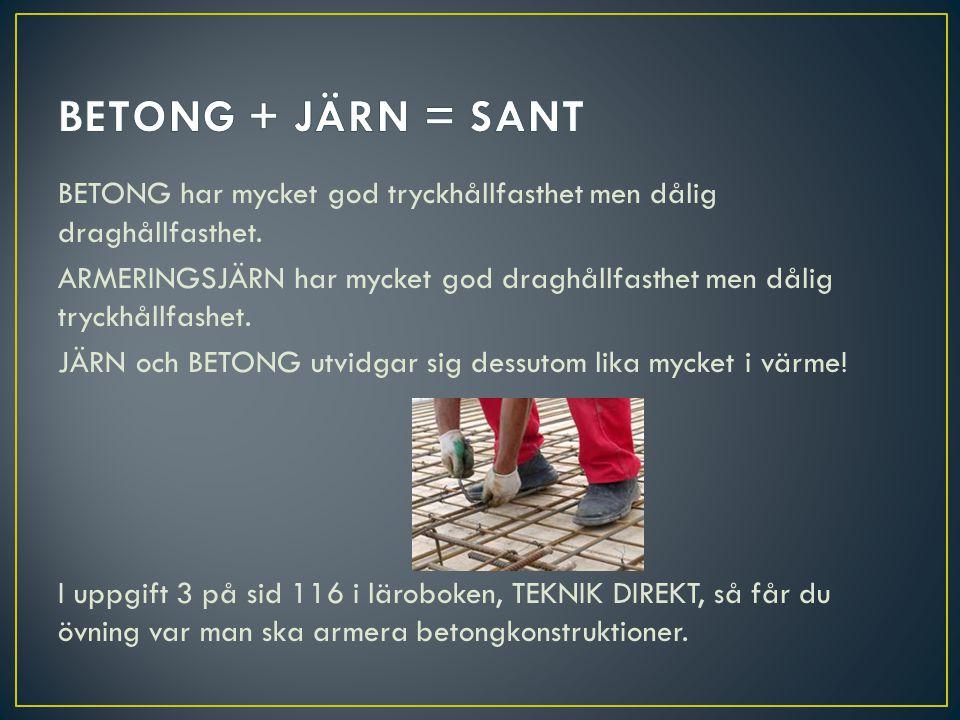 BETONG + JÄRN = SANT