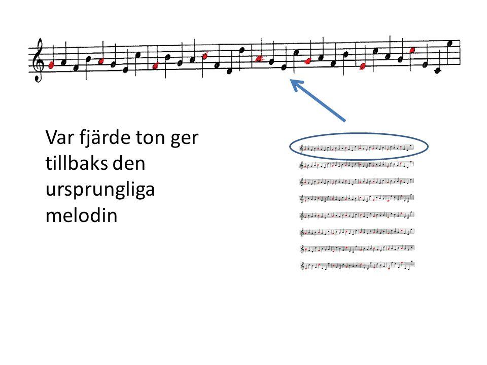 Var fjärde ton ger tillbaks den ursprungliga melodin