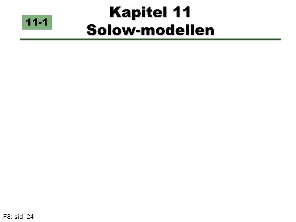 Kapitel 11 Solow-modellen