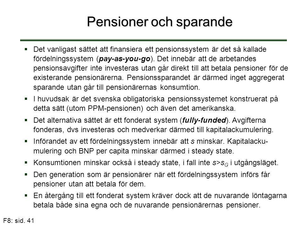Pensioner och sparande