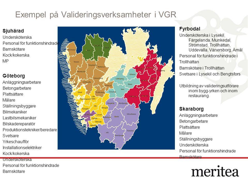 Exempel på Valideringsverksamheter i VGR