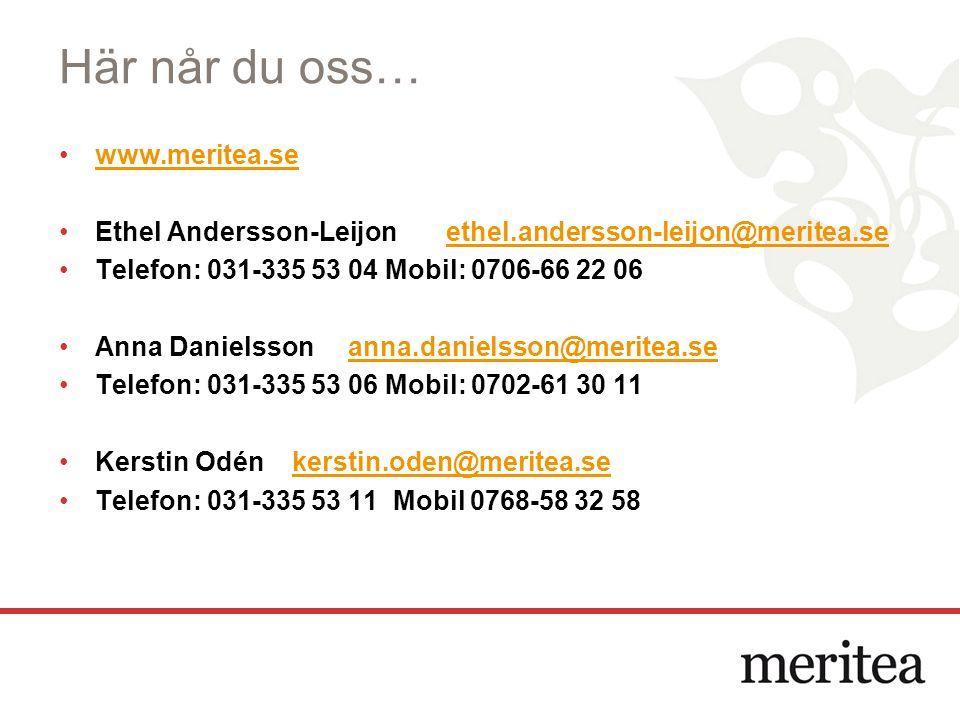 Här når du oss… www.meritea.se