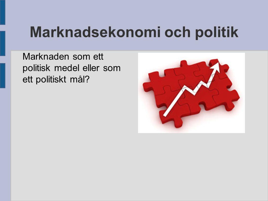 Marknadsekonomi och politik