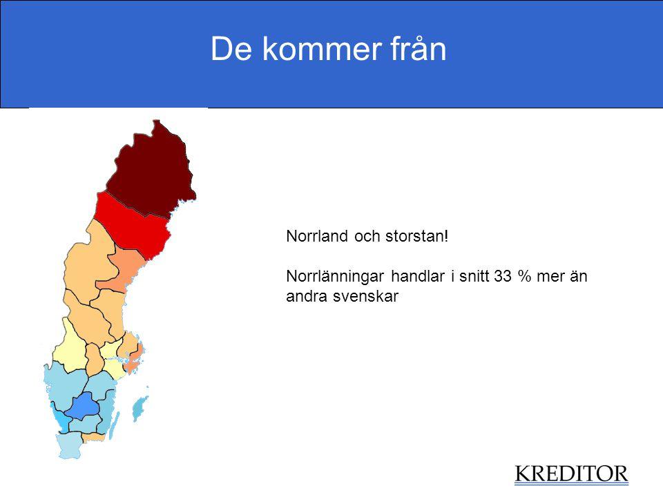 De kommer från Norrland och storstan!
