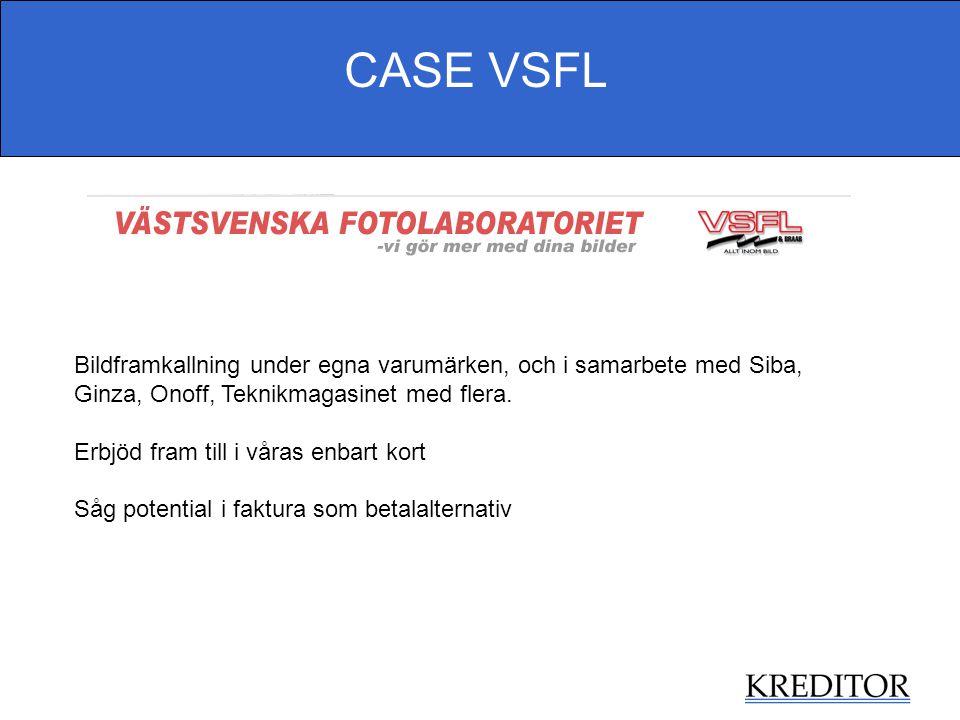 CASE VSFL Bildframkallning under egna varumärken, och i samarbete med Siba, Ginza, Onoff, Teknikmagasinet med flera.