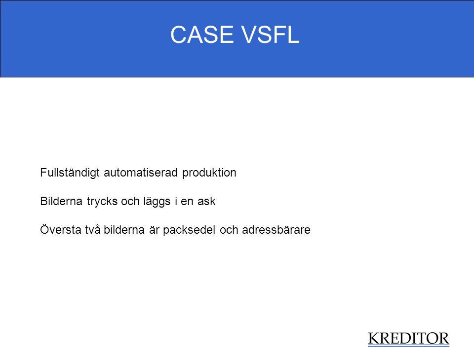 CASE VSFL Fullständigt automatiserad produktion
