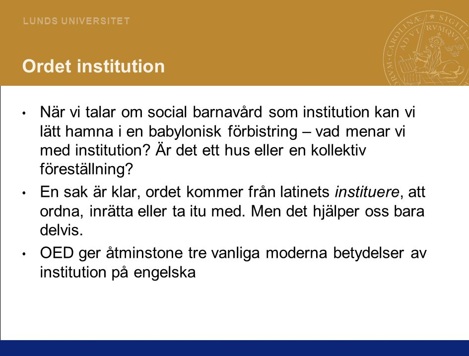 Ordet institution