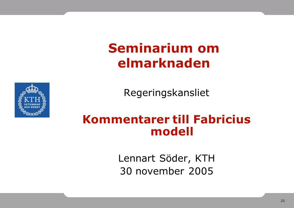 Seminarium om elmarknaden