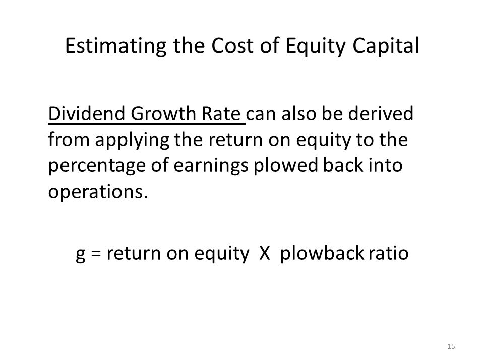 Estimating the Cost of Equity Capital