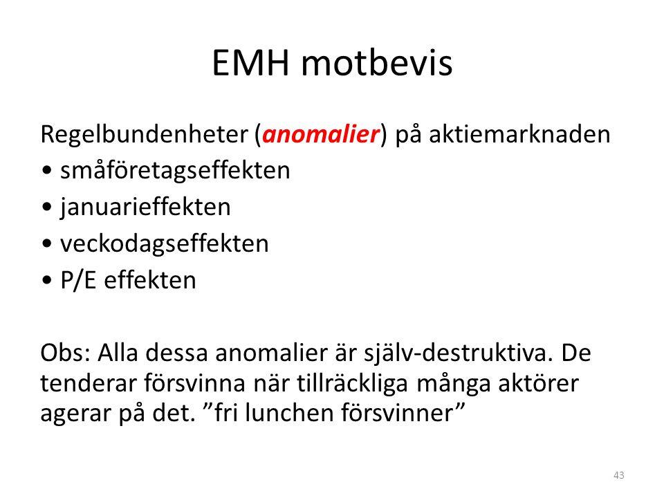 EMH motbevis