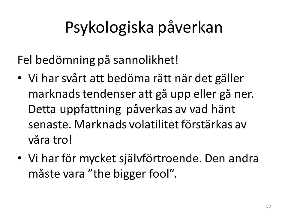 Psykologiska påverkan
