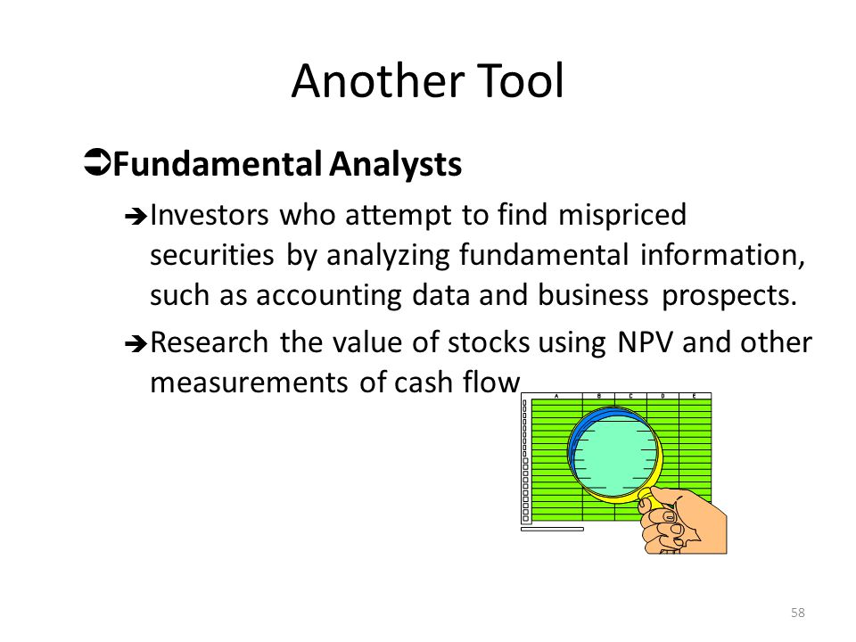 Another Tool Fundamental Analysts