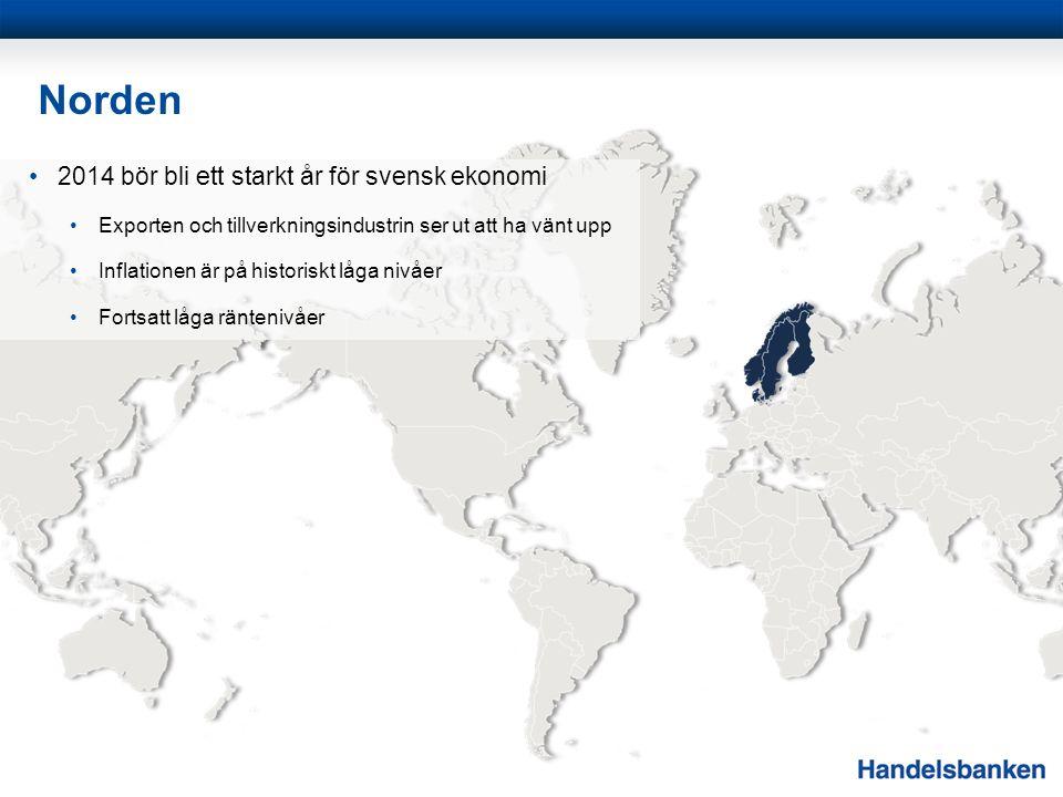 Norden 2014 bör bli ett starkt år för svensk ekonomi