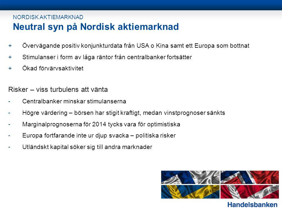 Neutral syn på Nordisk aktiemarknad
